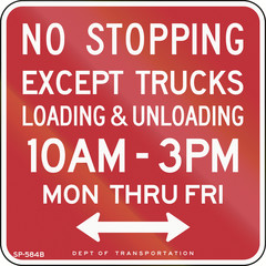 No Stopping Except Loading And Unloading