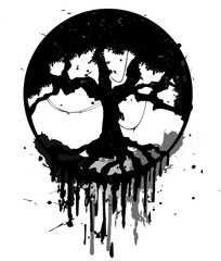 Grunge abstract tree