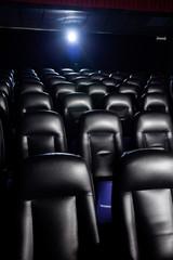 Interior Of Empty Movie Theater