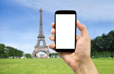 taking the photo in paris