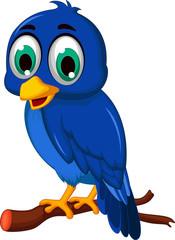 A blue bird cartoon character