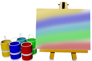 Easel with picture
