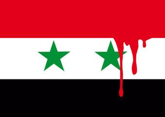 Syrie_Drapeau_Sang