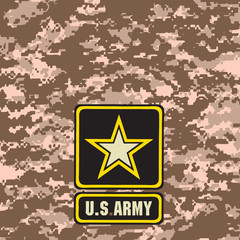 Beige Army camouflage background