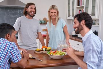 indoor friends gathering