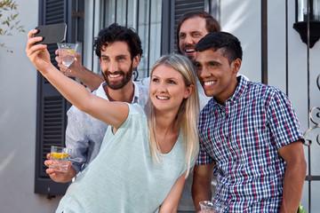 garden party selfie