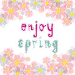enjoy spring pink cherry blossom