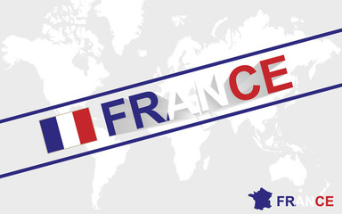 France map flag and text illustration