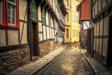 Fototapeten Bestsellers In den engen Gassen von Wernigerode