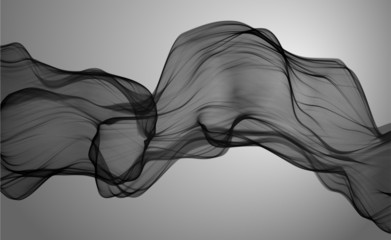 Black and white smoky abstract background