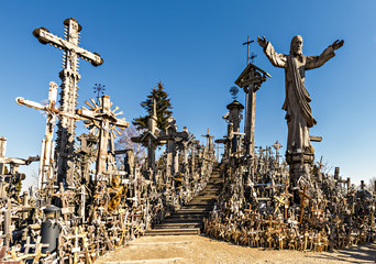 The hill of the Crosses in Lithuania