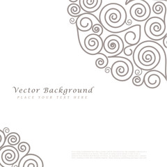Abstract vector background with curls.