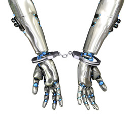 Handcuffed Robot - Cyber Crime