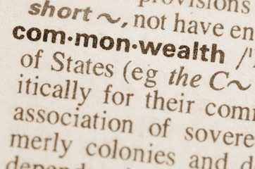 Dictionary definition of word commonwealth