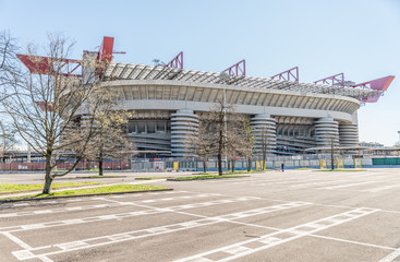 Photo on textile frame Stadion San Siro arena,Milan