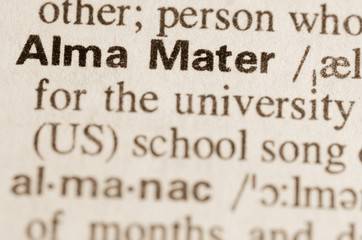 Dictionary definition of word Alma Mater