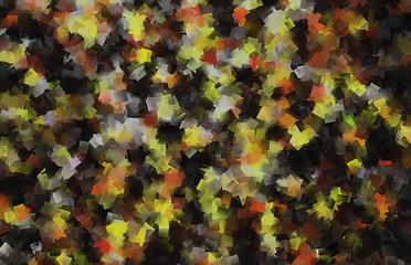 Mosaik in den Farben schwarz gelb rot