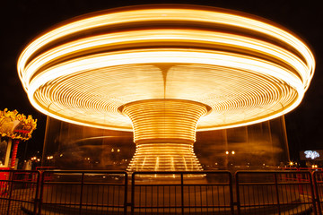 Evening attraction carousel