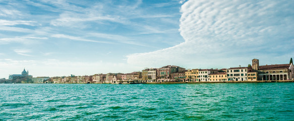 Panoramic view of Giudecca Island, Venice, Italy