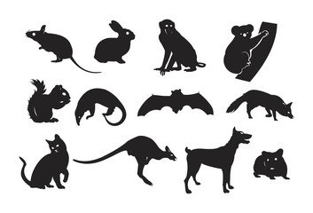 Silhouette of Mammal Set