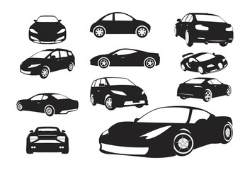 Car Silhouette Set