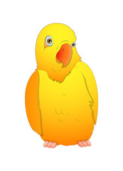 Cute Cartoon Bird Vector Illustration