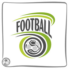 The image on the football theme