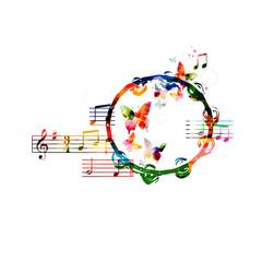 Colorful tambourine design