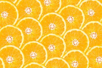 Orange Slice Abstract Seamless Pattern