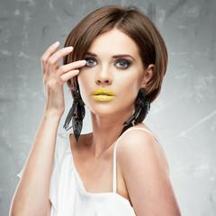 Young woman beauty portrait. Face, shoulders.