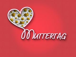 Muttertag Blumen Herz P.