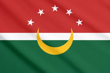 Maghreb flag waving