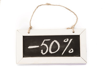 blackboard on rope, -50-%