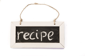 blackboard on rope, recipe