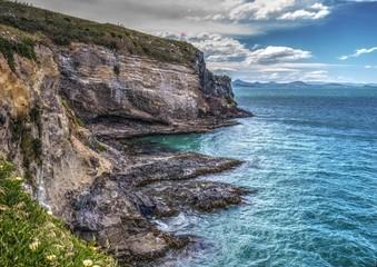 Lighthouse at Taiaroa Head, Otago peninsula