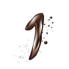 3d liquid chocolate number 1