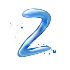 3d water letter Z