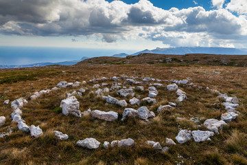The Pagan stone shape in mountaines