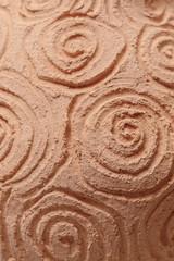 Range of clay pottery