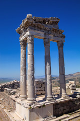 Roman archaeological monuments, Bergama, Turkey