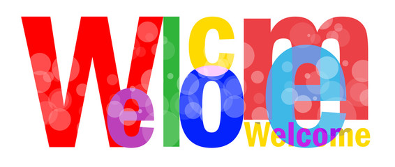 Welcome letters for you design