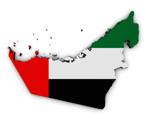 United Arab Emirates Map Flag Shape