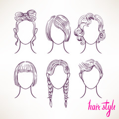 different hairstyles - 2