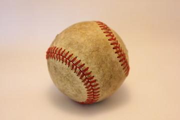 Worn out baseball