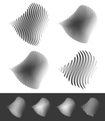 Distorted abstract wavy lines