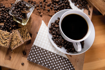 Natural coffee, home concept, natural food