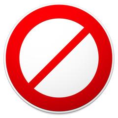 Deny, do not, prohibition sign. Restriction, no entry, no way ve
