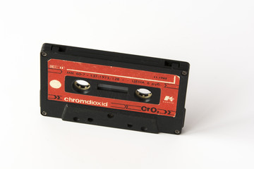 Old USSR cassete tape isolated