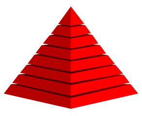 3d red pyramid