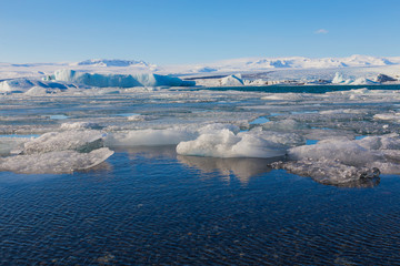 Beauty Jokulsarlon lake iceberg lagoon